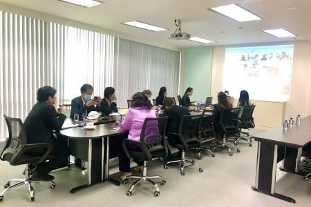 การประชุมทางไกลระบบ Web Conference ระหว่างผู้บริหารและพนักงานสทบ.สาขา 13 สาขา